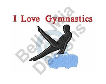 Gymnast - Machine Embroidery Design, Gymnastics, I Love Gymnastics