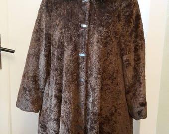 Original 40s plush/Kunstpelz coat with failed closures