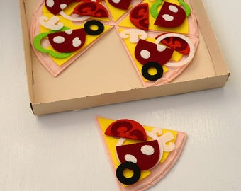Felt pizza, Pretend food, Felt food set, Developmental Baby Toys, Play pizza, Pretend play pizza