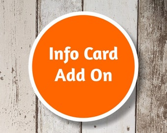 Info Card Add On - Get a matching Information Card for your Instant Invitation template