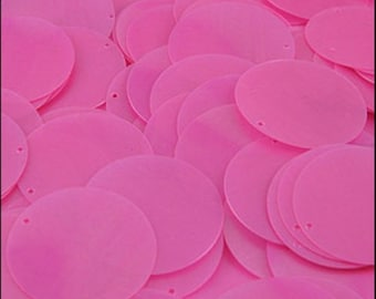 Satin Barbie Pink Disc Sequins 24mm - JR02862