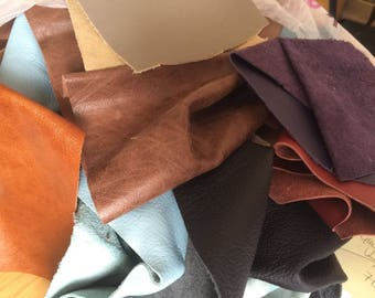 1KG Leather Off-cuts/Scraps - Various colours & Finishes