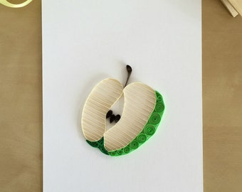 Green Apple Wall Decor, Apple Kitchen Accessories, Quilling Paper Apple,Apple Theme Gifts, Country Apple Decor, Fruit Decor, Apple Pie Decor