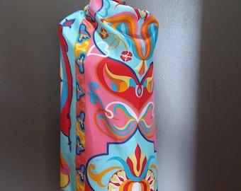 True Vintage 1960's Pierini 100% Silk Mod Pop Art Dress Fabric 42L. X 50W.