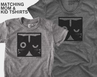 Dueling Watson the Cat - Matching Shirts (Women & Kid)