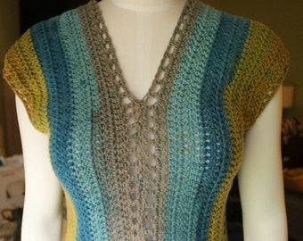 Modern Crochet Festival Top DIGITAL PATTERN, Women's Crochet Sweater Pattern