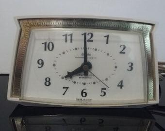 "Vintage 1960's Westclox ""Alarm-O-Matic""  Electric Alarm Clock - Made in USA"