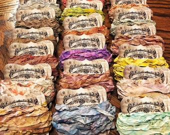 Hand Dyed Distressed Confetti Ribbon