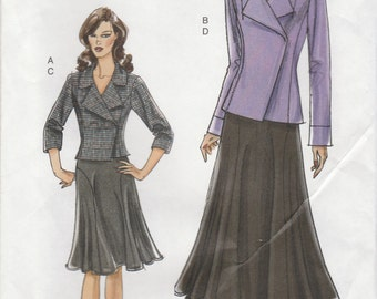 Jacket & Skirt Pattern Vogue 8461 Size 14 16 18 20 22 Uncut