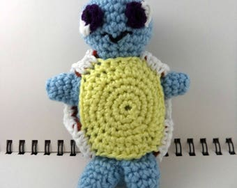 Crocheted Plush Turtle Monster
