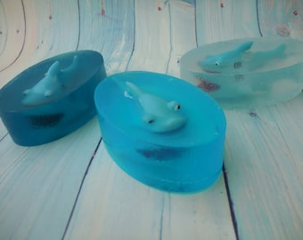 Shark Soap - Fish Soap - Great White Shark - Ocean Soap - Shark Pool Party - Pool Party Favor - Summer Birthday Party Favor - Soap For Kids