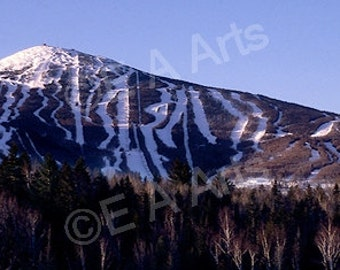 Sugarloaf Mountain Carrabasett Valley Maine Panoramic Photography MADE IN US Maine Photographer