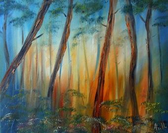 "Painting landscape ""Forest"""