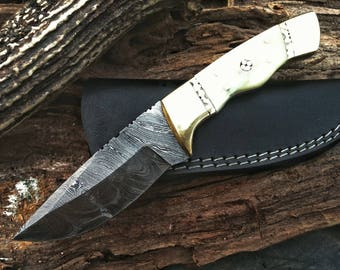 Hand Crafted Custom Bowie Knives, Homemade Bowie Knife, Hunting Bowie Knife, Damascus Blade, Damascus Steel Knife, Damasteel.