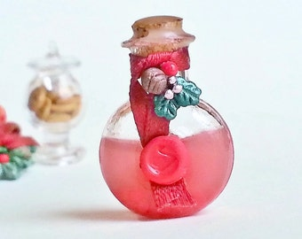 1:12 dollhouse miniature liquor bottle / Christmas miniature bottle / Liquor bottle scale one inch / Dollhouse miniature food scale 1/12