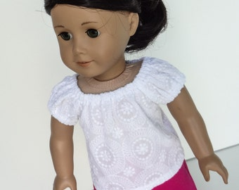 18 Inch Doll Clothes -- Peasant Top --1 Piece (5-08)