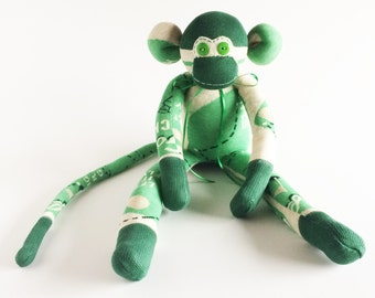 Golf Sock Monkey - Golfing Sock Monkey - Sock Monkey - Green Sock Monkey - Fathers Day Gift - Golfer Sock Monkey - Golf Lover - Golf Club
