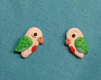 Pineapple Conure Stud Earrings