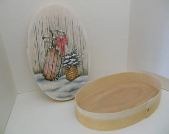 Winter sled on Bentwood Box