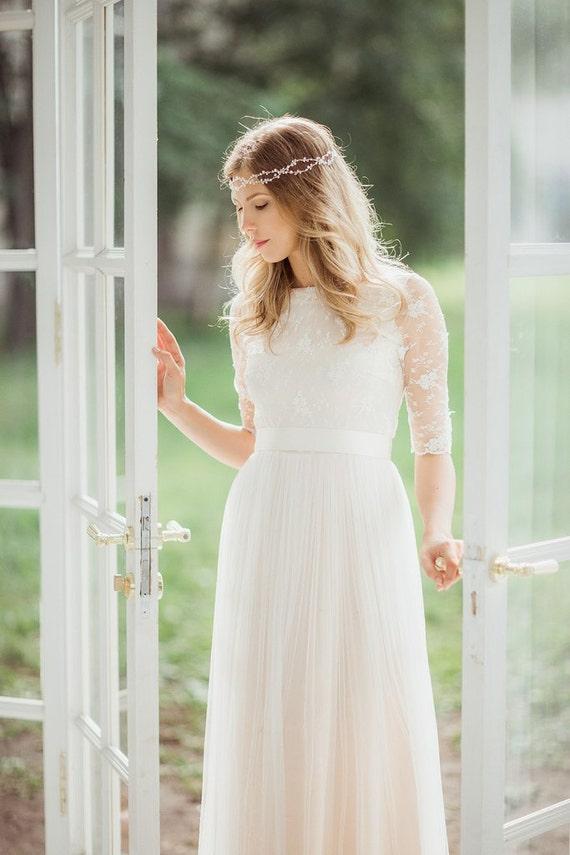 Ähnliche Artikel wie Boho Brautkleid, böhmische Hochzeit ...