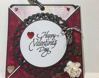 Valentine card, pocket style Valentine  card