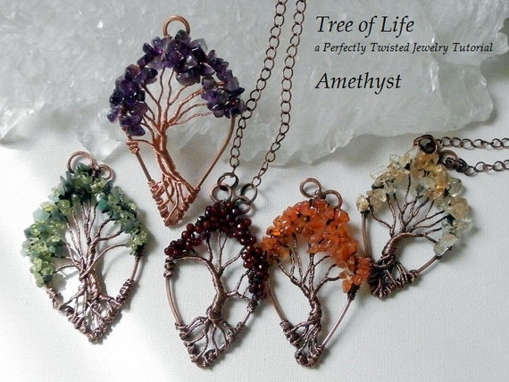 Wire wrap tutorial tree of life pendant learn how to wire mozeypictures Image collections