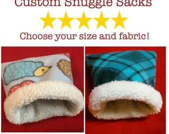 Custom Critter Snuggle Sack for Guinea Pigs, Hedgehogs, and other small pets!
