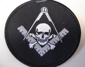 Compass with a Skull Patch