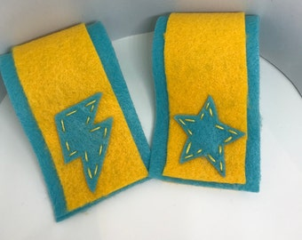 Superhero Cuffs - Customize and Personalize any colour - Turquoise/Yellow