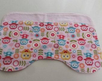 Burp cloths - pink owls