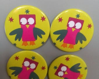 pattern background lime OWL magnets