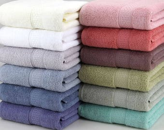 100% Cotton Bath Towel For Adults, Beach Towel, Fast Drying Towel, 17 Beautiful Colors, High Absorbent Antibacterial Towels, Bathroom Decor.
