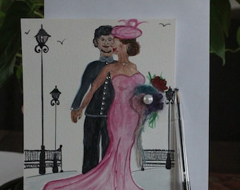 Postcard 3 D / Illustration / decor / wedding / flyer / poster