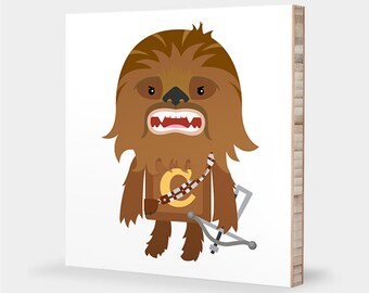 Star Wars nursery art | Chewbacca wall art - Star Wars kids decor, Star Wars bedroom, Chewie, Star Wars baby - Star Wars ABC bamboo wall art