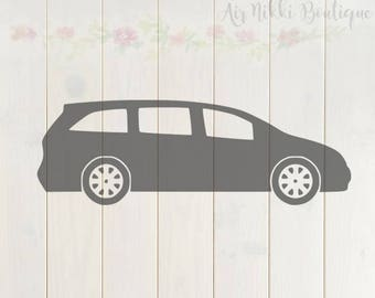 Mini Van, mom life, SVG, PNG, DXF files, instant download