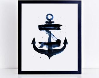 1027 // Nautical Anchor Illustration Design Digital Download JPEG and PDF