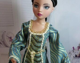 outfit doll Tonner Ellowyne wilde Tyler Marley  dress Medievale ooak