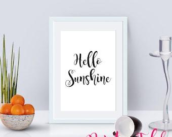 Hello Sunshine Printable Poster - Instant Download