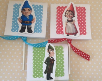 Sherlock Gnomes Party Lollipop Favors - Set of 10