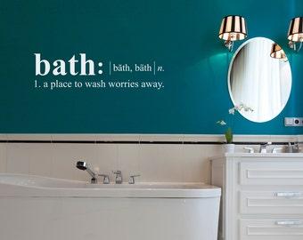 Bathroom Wall Decal - Dictionary definition Decal - Bath Wall Decal - Medium