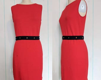 Red Knit Dress Size 10