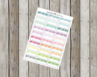 Happy Birthday Stickers for Erin Condren Life Planner (ECLP)