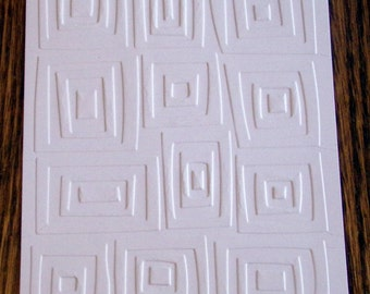 TRAFFIC JAM Squares Embossed Card Stock Panels Perfect for Scrapbooking and Card Making - Set of 12