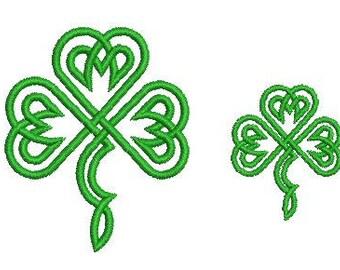 NeedleUp - Celtic Shamrock embroidery design