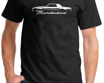 1967-71 Ford Thunderbird Classic Outline Design Tshirt