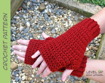 Red Riding Hood mitts CROCHET PATTERN || 6 sizes || Instant Download