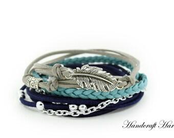 Leather Bohemian Wrap Bracelet, Handmade Bohemian Jewelry, Bohemian Bracelet, Boho Wrap Bracelet, Handmade Jewelry, Leather Bracelet