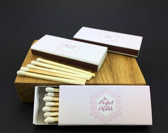 Set of 50 Wedding Matchboxes The Perfect Match * Personalized Matches * Wedding Matches * Custom Matches * Personalized Matchbox * BEST