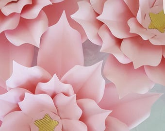 Paper Flower Template and Base  in PDF digital #15