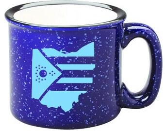Ohio Flag Enamel Mug